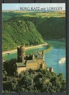 Germany BURG KATZ LORELEI Bei St. Goarshausen Am Rhein Sent 2000 With Stamp - Loreley