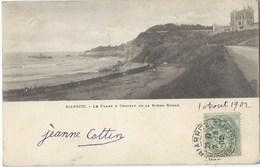 64 - BIARRITZ - Le Phare Et Château De La Roche Ronde - CPA Précurseur 1902- ça A Changé ! - Biarritz