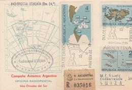 Tratado ANTARTIC,Observ Naval ORCADAS,Radiopostal USHUAIA,Isla LAURIE,La Antartida Y Santa FE Via USHUAIA Argentina 1964 - Telecom