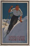 14. Grosses Ski-Rennen Der Schweiz 6.-8. Febr. 1920 Klosters - GR Grisons