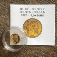 BE33 12,5 EURO 2007 Léopold II *QP* Quality Proof - Belgique