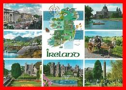4 CPSM/gf  ANTWERPEN (Belgique)   Multivues / Connemara, Multivues / Thatched Cottage / Cork City...I0073 - Irlande