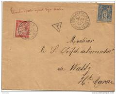 1902. LSC - De Dommartin Le Franc (HAUTE MARNE) - Timbre Taxe N°33 Cachet N°18 - 1902 - Taxes