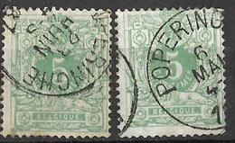 _8S-863: N°45:  POPERINGHE...2x - 1869-1888 Lying Lion