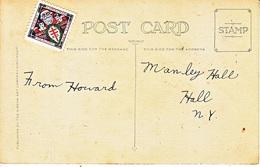 U.S. CHRISTMAS SEAL  1921  ON  SANTA  CLAUS  CARD - United States