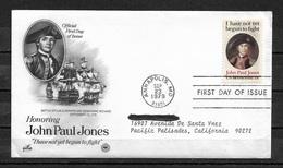 US 1979 FDC John Paul Jones Cachet, Ships ,VF !! (RS-2) - First Day Covers (FDCs)
