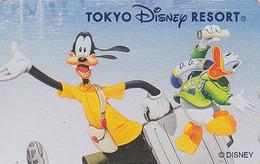 Télécarte NEUVE Japon / 110-211398 - DISNEY RESORT - DONALD & GOOFY En Voyage - Japan MINT Phonecard - Disney