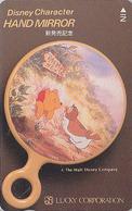 Télécarte NEUVE Japon / 110-011 B - DISNEY - HAND MIRROR - WINNIE POOH & HIBOU OWL - Japan MINT Phonecard - Disney