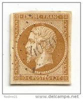 013. Timbre N°13 Bistre-Brun Assez Foncé (pas D'amincis) - PC 4070 Bureau Sup. De Verrey S/ Salmaise (CÔTE D'OR) - 1853-1860 Napoleon III
