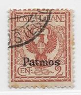 Italy Aegean Islands Patmo, Scott # 1 Used Italy Stamp Overprinted, 1912 - Aegean (Patmo)