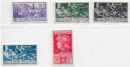 Italy Aegean Islands Patmo, Scott # 12-6 Mint Hinged Ferrucci Set Italy Stamps Overprinted, 1930 - Aegean (Patmo)
