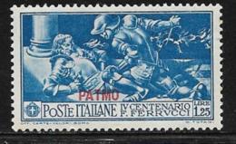 Italy Aegean Islands Patmo, Scott # 15 MNH Ferrucci  Italy Stamp Overprinted, 1930 - Aegean (Patmo)