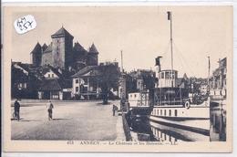 ANNECY- LE CHATEAU ET LES BATEAUX - Annecy