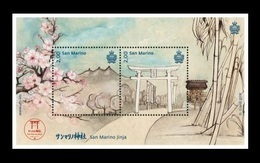 San Marino 2018 Mih. 2754/55 (Bl.83) Shinto Temple San Marino Jinja MNH ** - San Marino