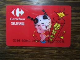 China Carrefour Gift Card, 1000Yuan Facevalue - Cartes Cadeaux