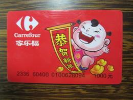 China Carrefour Gift Card,1000Yuan Facevalue - Cartes Cadeaux
