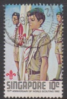 Singapore 439 1982 75th Anniversary Scouts Movement 10c Scouts On Parade, Used - Singapore (1959-...)