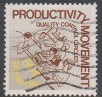 Singapore 445 1982 Productivity Movement 50c Quality Control Citrcles, Used - Singapore (1959-...)