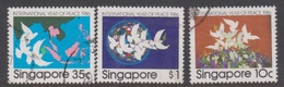 Singapore 547-549 1986 International Year Of Peace, Used - Singapore (1959-...)