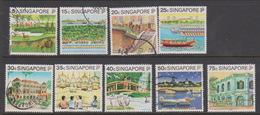 Singapore 628-636 1995 Tourism, Used - Singapore (1959-...)