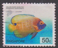 Singapore 1049 2001-04 Tropical Fishe,50c Yellow-faced Angelfish, Used - Singapore (1959-...)