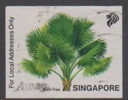 Singapore AT 1 1993 Palm Tree, Used - Singapur (1959-...)