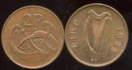 IRLANDE - IRELAND - EIRE 2 Pence 1988 - Irlande