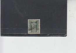 INDIA  1957-58 - Yvert  S 27A - Francobolli Di Servizio