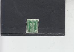 INDIA  1950-51 - Yvert  S 3 - Francobolli Di Servizio