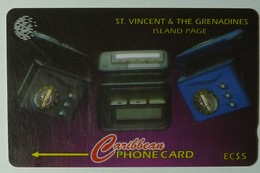 ST VINCENT & THE GRENADINES - 221CSVB - $5 - Island Page - STV-221B - Used - St. Vincent & The Grenadines