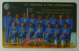 ST VINCENT & THE GRENADINES - 243CSVB - $20 - Netball Team - STV-243B - Used - San Vicente Y Las Granadinas