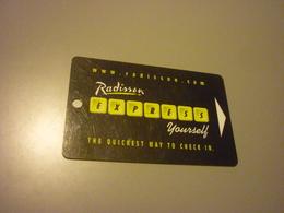 U.S.A. Radisson Hotel Room Key Card - Cartes D'hotel