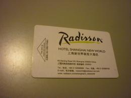 China Shanghai New World Radisson Hotel Room Key Card - Cartes D'hotel