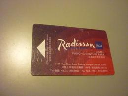 China Pudong Century Park Radisson BLU Hotel Room Key Card - Cartes D'hotel