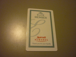 U.S.A. Marriott Hotel Room Key Card (Elite Member Rewards) - Cartes D'hotel