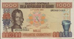 GUINEE 1000 FRANCS GUINEENS De 1985  PICK 32a  XF/SUP+ - Guinée