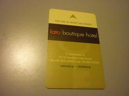 Greece Crete Heraklion Lato Boutique Hotel Room Key Card - Cartes D'hotel
