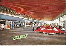 Lazio Fiumicino Aeroporto Intercontinentale Leonardo Da Vinci Veduta Interno Sale D'attesa Passeggeri Anni 60/70 Animata - Aerodromi