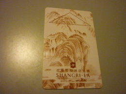 China Shangri-La Hotel Room Key Card - Cartes D'hotel