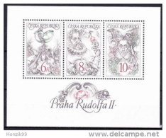 1997 Bloc Feuillet De 3 Timbres Empereur Rodolphe II De Prague  YT 143 / 145 - Blocs-feuillets