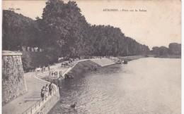 21 Côte D'Or - AUXONNE - Baignade Des Chevaux - Pont Sur La Saône - Auxonne