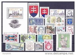 Slovaquie 1993 Neuf Année Complète Avec Bloc - Slovaquie