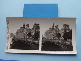 PARIS : L'Hôtel De Ville & Le Pont D'Arcole : S. 7 - 3121 ( Maison De La Bonne Presse VUES De FRANCE ) Stereo Photo ! - Photos Stéréoscopiques