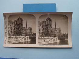 PARIS : Notre-Dame - Vue Générale : S. 2 - 2963 ( Maison De La Bonne Presse VUES De FRANCE ) Stereo Photo ! - Photos Stéréoscopiques