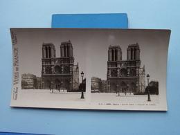 PARIS : Notre-Dame - Façade Et Tours : S. 5 - 2968 ( Maison De La Bonne Presse VUES De FRANCE ) Stereo Photo ! - Photos Stéréoscopiques