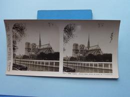 PARIS : Notre-Dame Prise Du Pont De L'Archevec : S. 3 - 2965 ( Maison De La Bonne Presse VUES De FRANCE ) Stereo Photo ! - Photos Stéréoscopiques