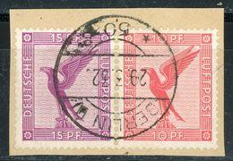 W 22 Briefstück Zentrischer Vollstempel - Michel 120 € - Se-Tenant