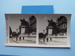 PARIS : Statue D'Etienne Marcel : S. 1 - 3234 ( Maison De La Bonne Presse VUES De FRANCE ) Stereo Photo ! - Photos Stéréoscopiques