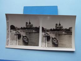 PARIS : N.-D. Et La Seine Pris Du Pont ....... : S. 9 - 2967 ( Maison De La Bonne Presse VUES De FRANCE ) Stereo Photo ! - Photos Stéréoscopiques