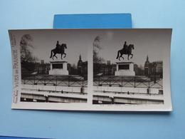 PARIS : Statue De Henri IV : S. 3 - 3227 ( Maison De La Bonne Presse VUES De FRANCE ) Stereo Photo ! - Photos Stéréoscopiques